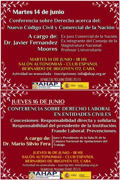 Ciclo de charlas sobre Derecho en el Club Español