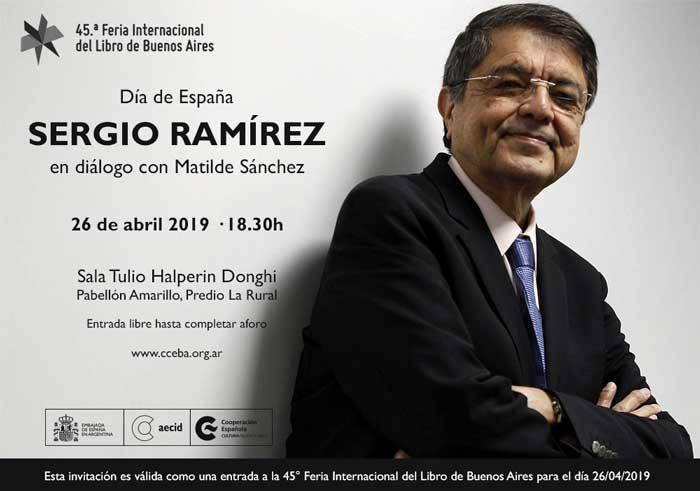 Día de España - Sergio Ramirez en la Feria del Libro