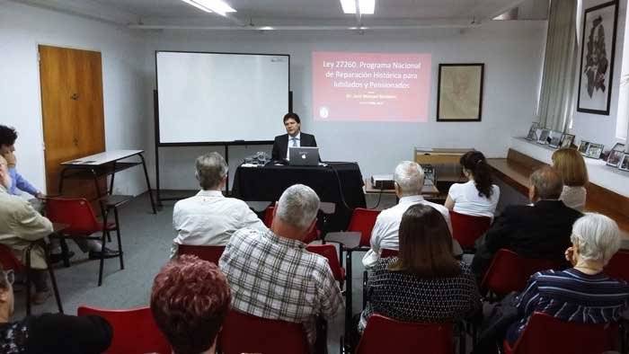 El Dr. José Manuel Besteiro disertó sobre la Ley de Reparación Histórica