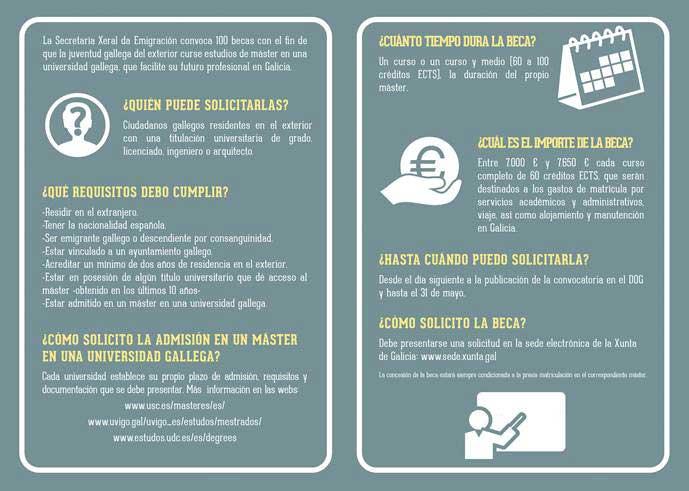 Programa de Becas de Posgrado impulsado por la Xunta de Galicia 2017