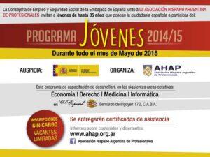 Programa de Capacitaciones JÓVENES 2014/15