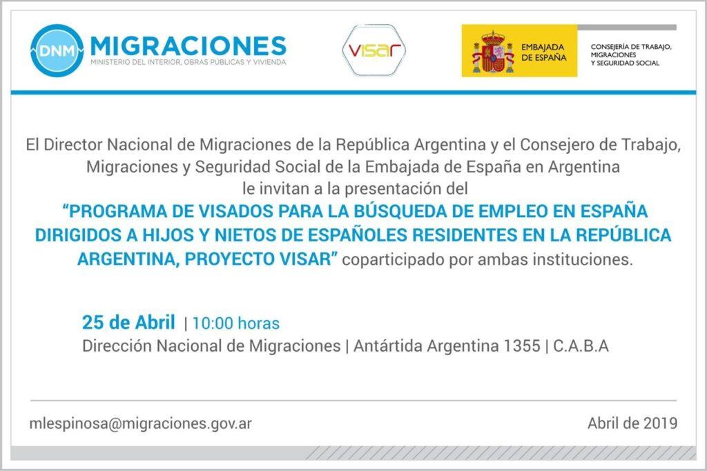 Visados de búsqueda de empleo en españa para hijos y nietos de españoles residentes en argentina