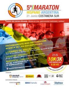 Ya llega la 5ta edición de la MARATÓN HISPANO ARGENTINA